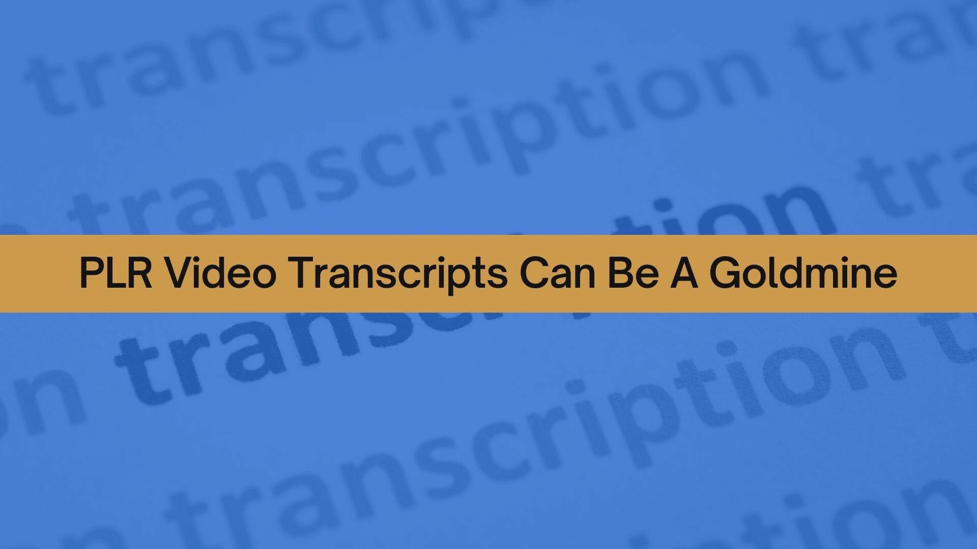 PLRVD Transcripts can be a goldmine