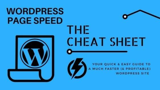 WordPress Page Speed Cheat Sheet image