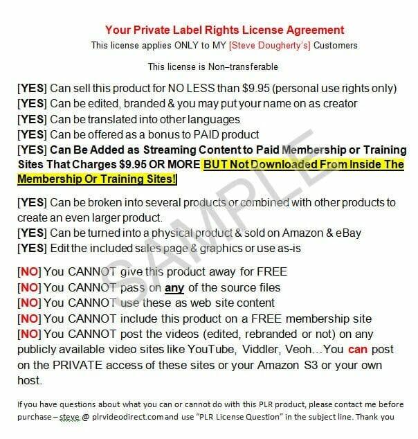 Google Sites Training -sample PLR License