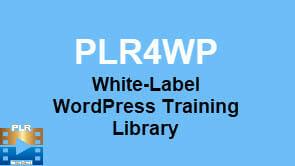 PLR For WordPress -PLR4WP White Label WordPress Video Training